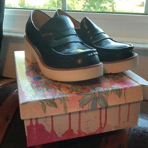 Jeffrey Campbell Leather Flatform loafers Sz 10